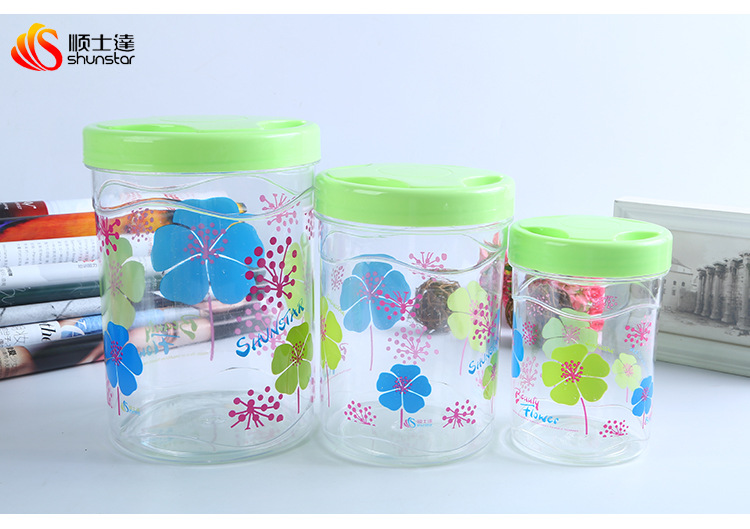 Factory direct selling love wife No. 6530 plastic preservation box, sugar cylinder, daily necessitie