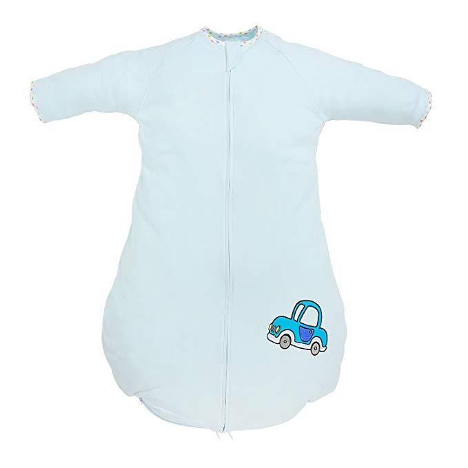 Túi ngủ trẻ em dày hai lớp xanh dương Beyond Your Thoughts