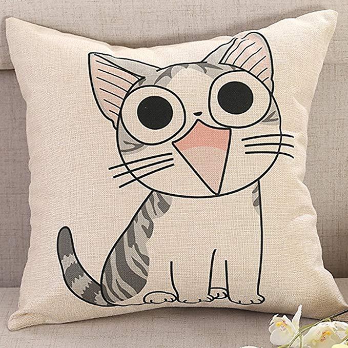 Những chiếc Gối Đệm Sofa sáng tạo với Kiểu in logo hình con mèo .