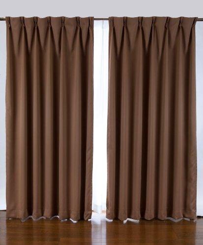 Cấp 1 màn rèm đen 2 mảnh chiều rộng 100 x chiều cao 240 nâu 200x260S