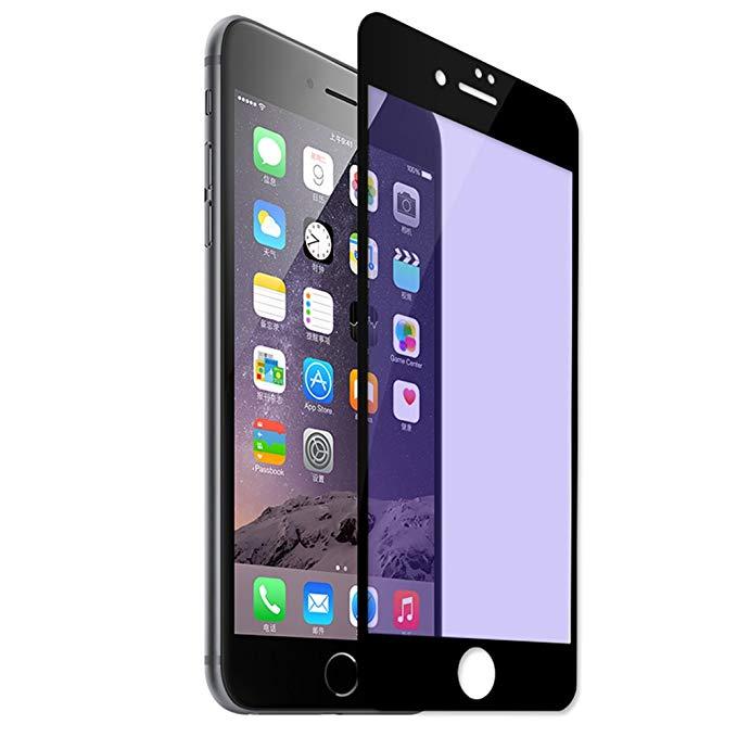 MeieaS Magic iPhone7 tempered phim chống-Blu-ray Apple 7 toàn màn hình bìa 3D mềm cạnh tempered glas