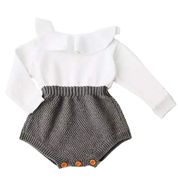 Bé gái jumpsuit đan nếp gấp dài tay áo jumpsuit bé con cô gái jumpsuit mùa thu và mùa đông mặc giản