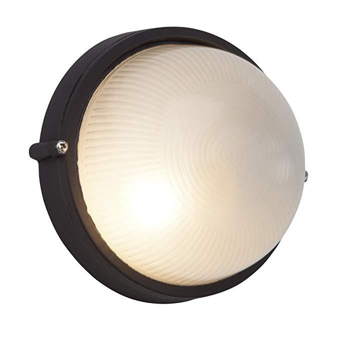 Đèn tường và đèn trần ngoài trời 1 × E27 * 53 W Kim loại / kính Đen 96106/06