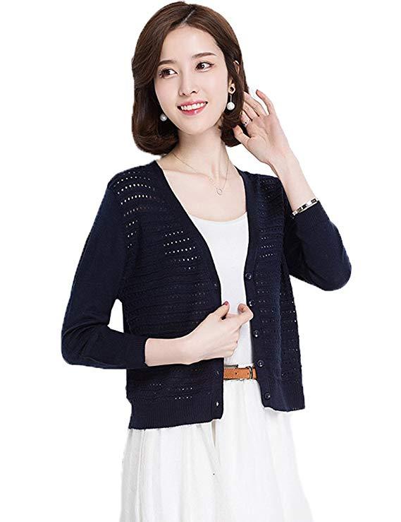 Áo khoác len kiểu Cardigan cho Nữ