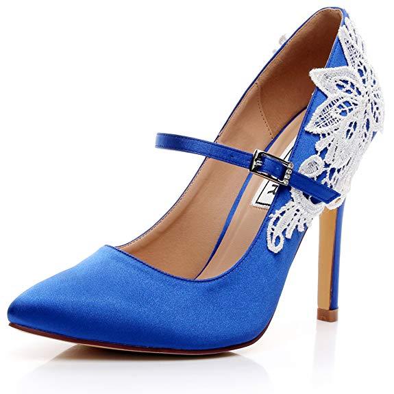 Giày cưới ren cho cô dâu cao gót , Thương Hiệu : LUXVEER - RS 2064 .