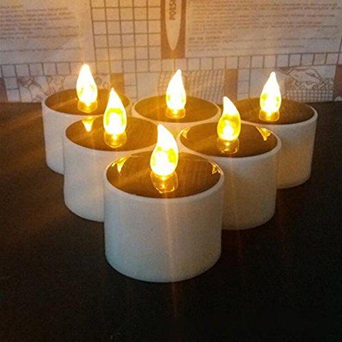LEMON HOUR 6 piece đặt lãng mạn năng lượng mặt trời năng lượng LED light candle light night light tr