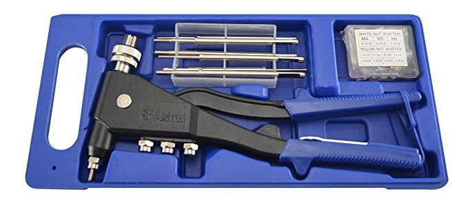 Astro khí nén công cụ 1443A tay đinh tán nut kit SAE và metric rivet nut kết hợp