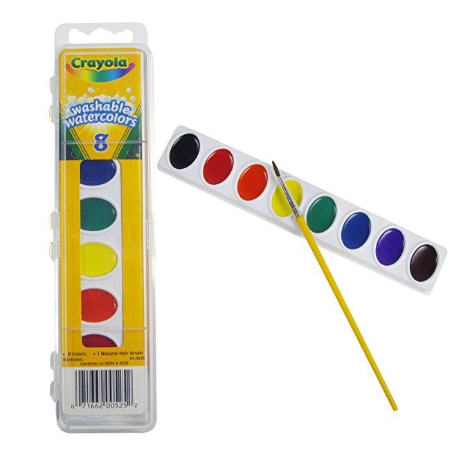 Crayola Crayola 8 màu sắc có thể giặt rắn sắc tố (mới và bao bì cũ vận chuyển ngẫu nhiên) 53-0525