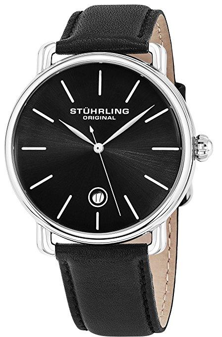 Chiếc đồng hồ đeo tay màu đen của người đàn ông gốc Ascot Stuhrling - Đồng hồ Quartz Analog Analog W