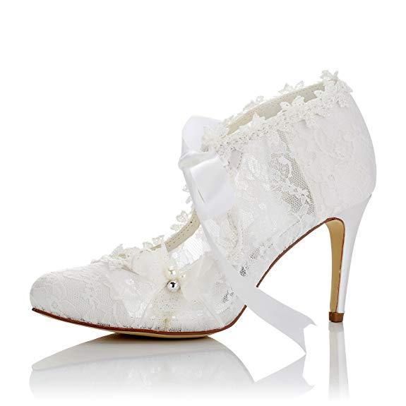 Giày cao gót nữ không hở mũi , kiểu ren satin - Hiệu : JIAJIA - 16798