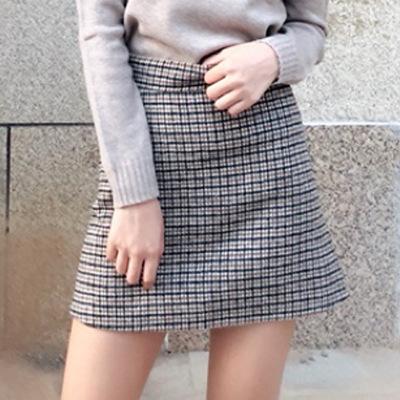 Váy nữ sọc caro thời trang thu đông 2019