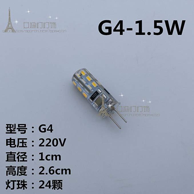 G4G5.3G9LED đèn hạt 12V220V pin làm nổi bật đèn pha lê ngô đèn tiết kiệm năng lượng vá nguồn ánh sán