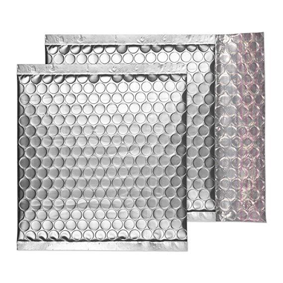 Blake Matte đệm Bubble Envelope Pouch, 16.51cm x 16.51cm, Brushed Chromium, Strip và đóng gói (MTA16