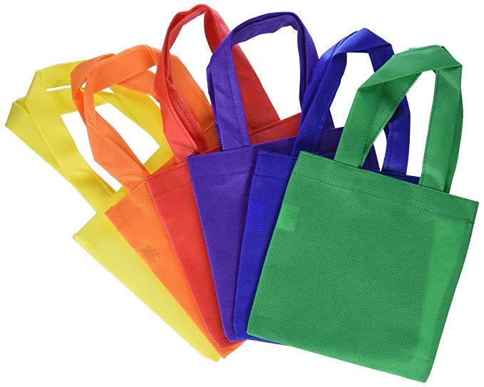 Túi Polyester không dệt Fun Express Polyester - 15,24 cm - 12 gói Nhiều màu