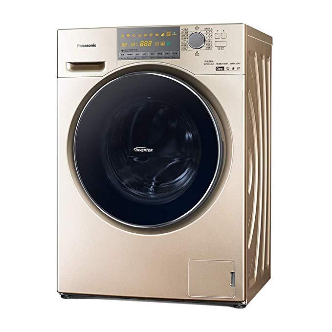 Panasonic Panasonic máy giặt trống XQG100-EG13N 10 kg 螨 đai sấy tần số vàng champagne