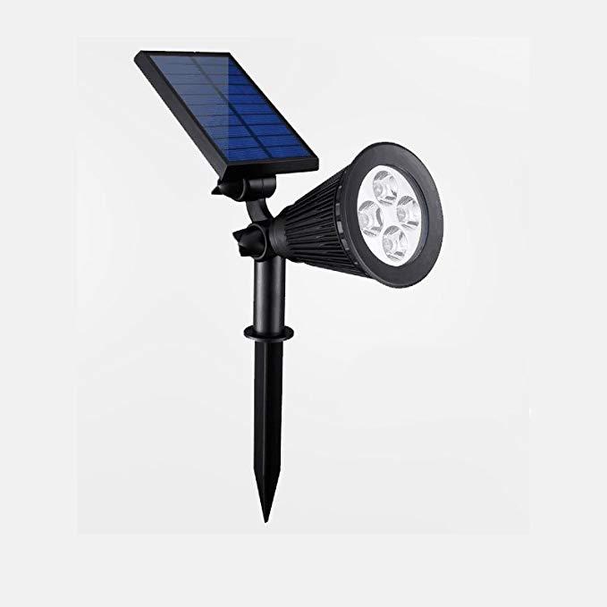 LED năng lượng mặt trời spotlight ngoài trời cắm ánh sáng không thấm nước nhà siêu sáng đèn bãi cỏ v
