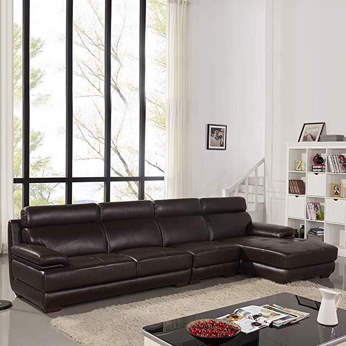 Nội Thất Phòng Khách : ZUOYOU Ghế sofa hình chữ L , vải Da Bò phong cách hiện đại .