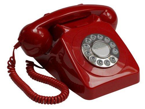 GPO 746 Nút Điện thoại Retro với Ringtone chính hãng Ring GPO746PB Red