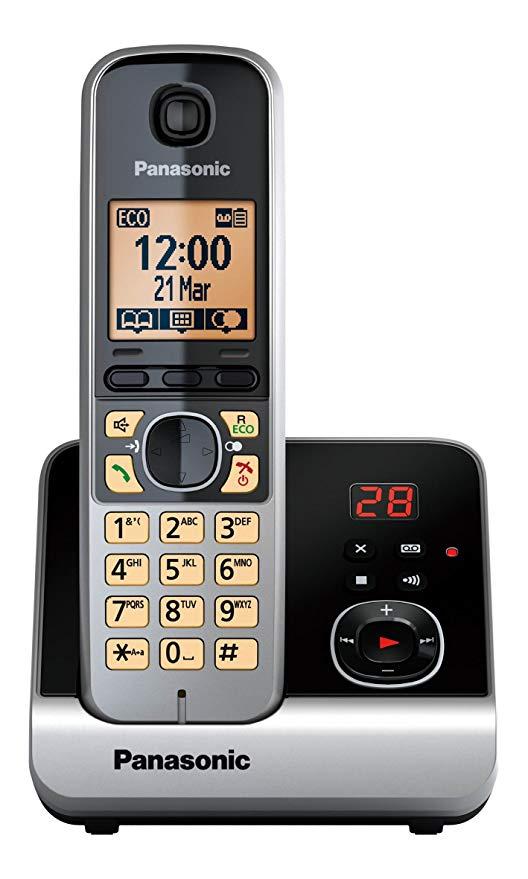 Điện thoại không dây Panasonic Panasonic (màn hình 4,6 cm (1,8 inch), nút thông minh, rảnh tay, máy