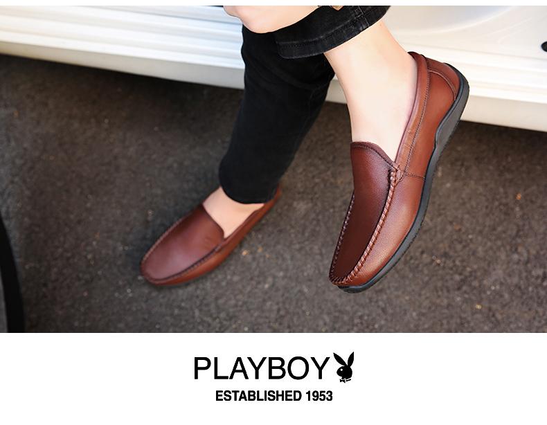 Giày mọi Gommino Bằng Da mềm dành cho nam , Thương hiệu: PLAYBOY .
