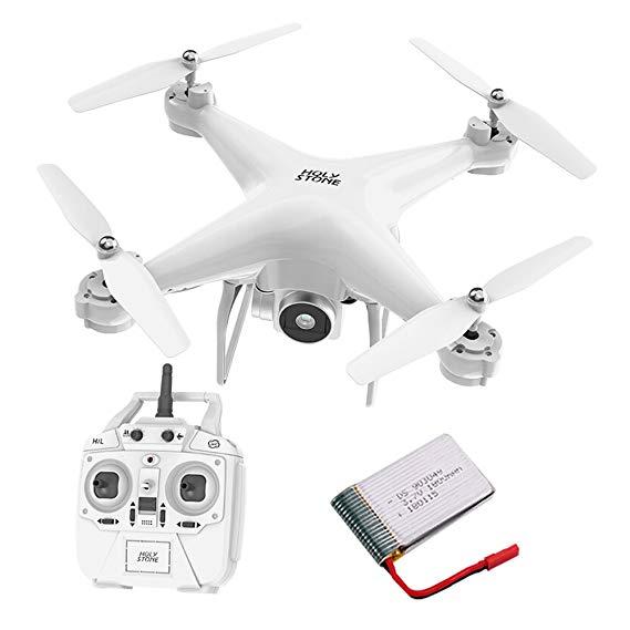 HOLY ĐÁ Độ Bền Mô Hình HS20 HD Trên Không Drone Lớn Điều Khiển Từ Xa Máy Bay Quadcopter Toy (Trắng)