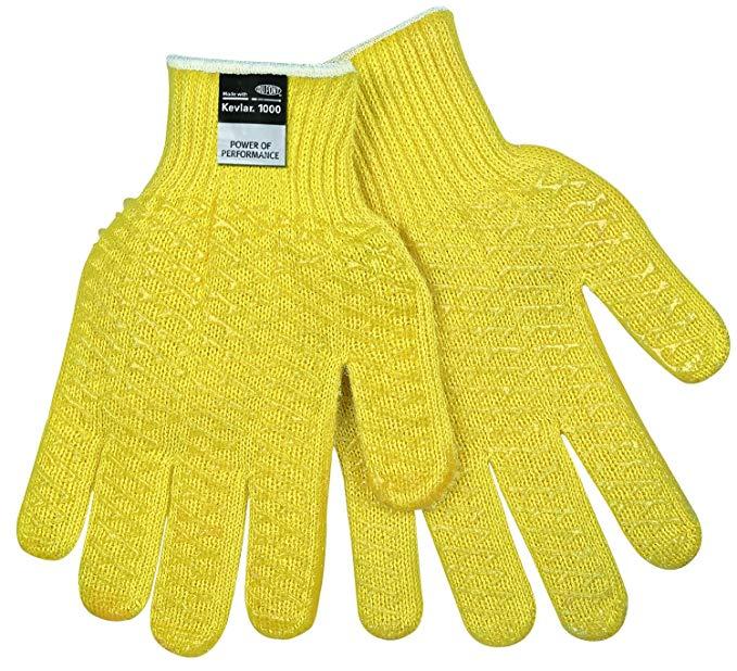 MCR an toàn 9370L Kevlar thường xuyên trọng lượng 7 đo găng tay, màu vàng, lớn, 1-Pair