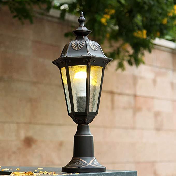Châu âu cột đầu ánh sáng không thấm nước đèn tường đèn cửa vườn không thấm nước bãi cỏ đèn biệt thự