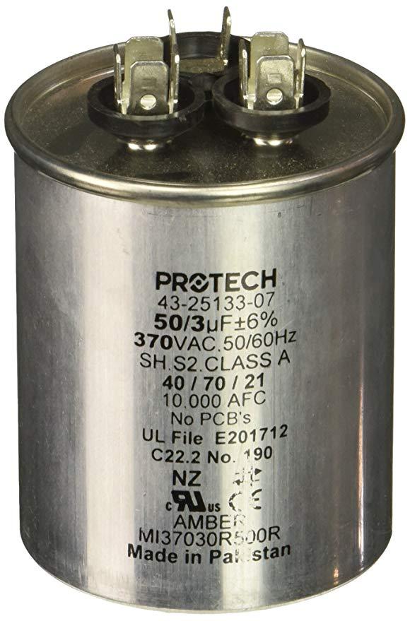 Protech 662766275353 50/3/370 tụ điện tròn đôi