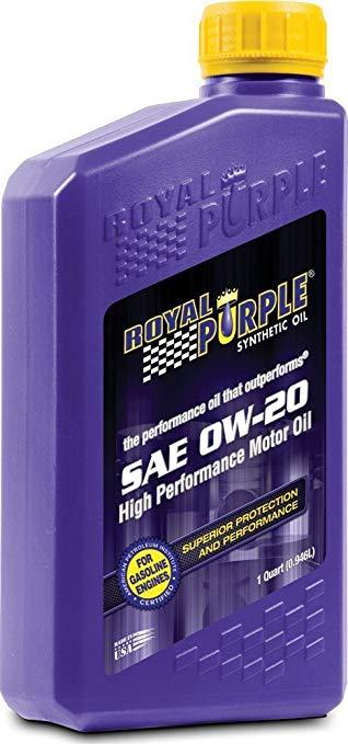 Mỹ nhập khẩu hoàng gia tím 0w-20 sn tím vương miện chất bôi trơn tổng hợp đầy đủ 1 quart 0.946l