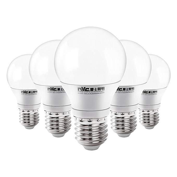 NVC NVC bóng đèn loạt bóng đèn LED 5WE27 lớn vít 6500 K ánh sáng trắng năm