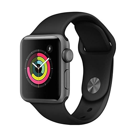 Apple Watch Series 3 Thông Minh Xem 38 mét GPS Không Gian Sâu Xám Nhôm Trường Hợp Đen Sport Strap MQ