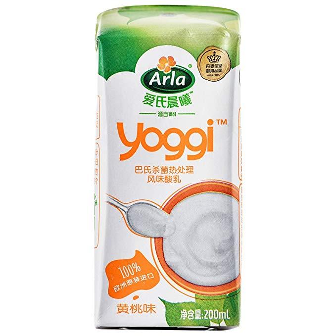 Sữa chua buổi sáng của Arla Ai'sgi / 200ml * 12 Hương vị đào vàng