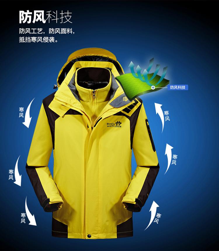 Trang phục Thể Thao : Áo khoác không thấm nước dành cho nam và nữ .