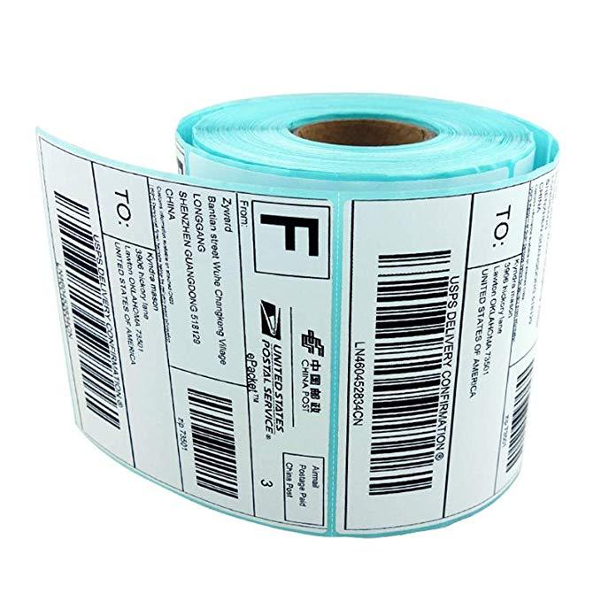 Máy in nhãn mã vạch SKU nhãn hàng hóa FBA in ấn nhãn dán E mail kho báu máy in nhãn 100x100 nhãn giấ