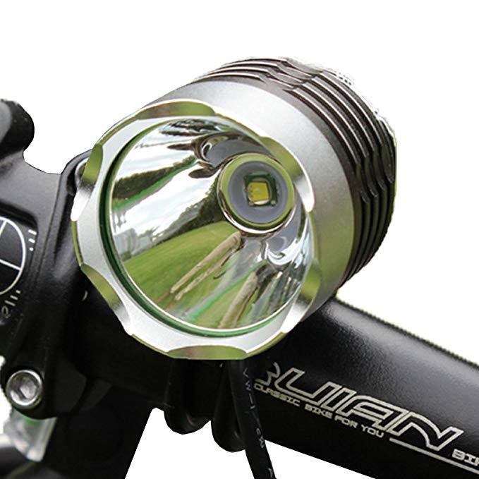 Đèn Pha Gắn xe đạp hoặc đeo trên đầu bằng nhôm .