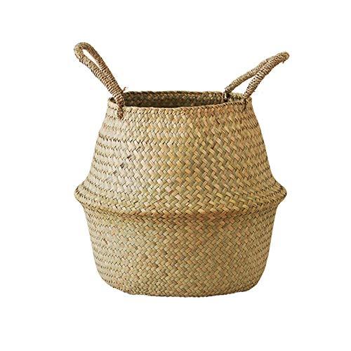 YOLOGOSUN Rong Biển Tự Nhiên Giỏ Trọng Lượng Nhẹ Của Nhãn Hiệu Giặt Basket với Xử Lý Tote Dệt Giỏ Lư