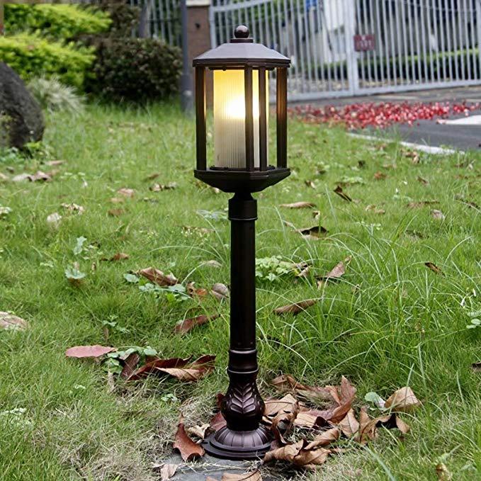 Đèn bãi cỏ tối giản hiện đại ngoài trời vườn đèn không ướt gỉ đèn bãi cỏ cộng đồng biệt thự lối đi c