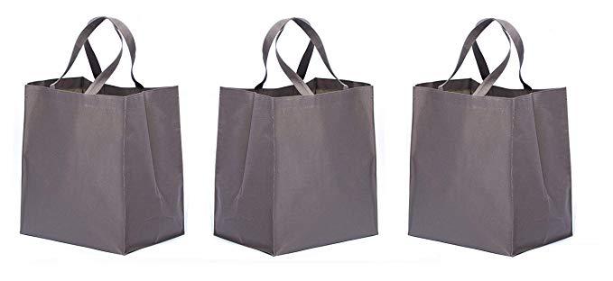 Túi mua sắm hàng tạp hóa có thể tái sử dụng 3 gói cho thiết kế hộp có thể gập lại và khép kín 120 lb
