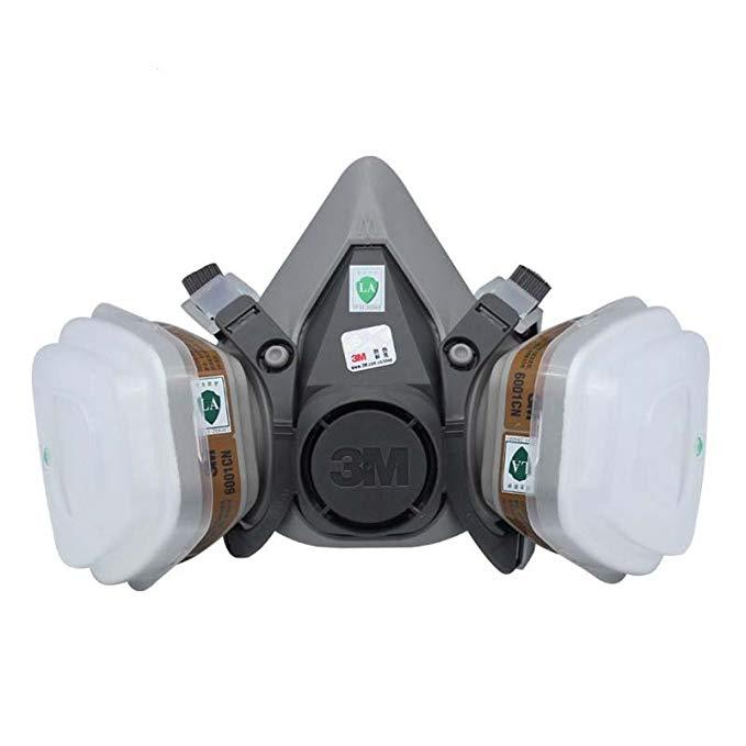 Mặt nạ bảo vệ mặt nạ bảo vệ 3M đặt 6200-6001 bảy mảnh (bảo vệ khí hữu cơ)