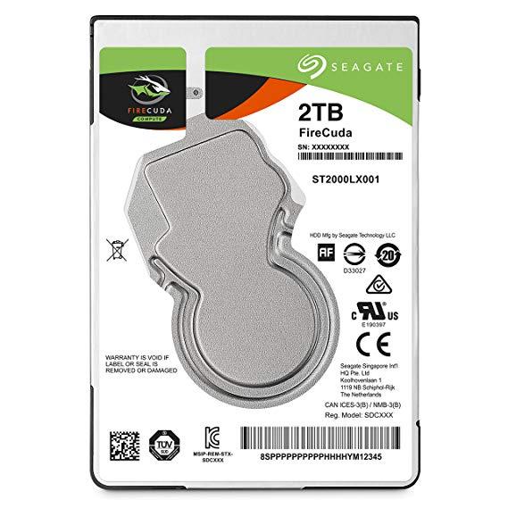 Seagate Hybrid SSD 2.5-inch trò chơi flash NAND 2TB FireCuda (SSHD 8GB MLC / SATA / bảo hành 5 năm)