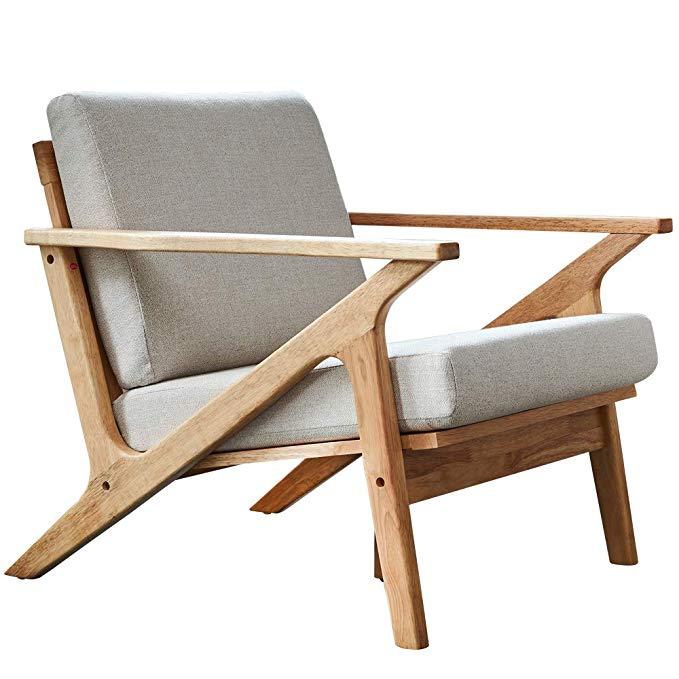 Baijia Malaysia nhập khẩu gỗ rắn Ghế sofa đơn