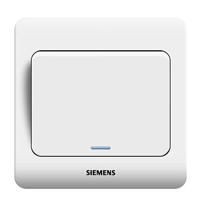 SIEMENS Siemens Switch Sockets Vision Series (Ya White) 5TA01131CC1 Một điều khiển thanh toán với bả