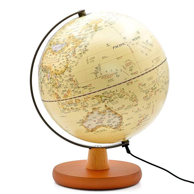 Park Square Đài Loan Learning Globe Đèn Trang Trí Bảng Đèn Night Lights 25 cm