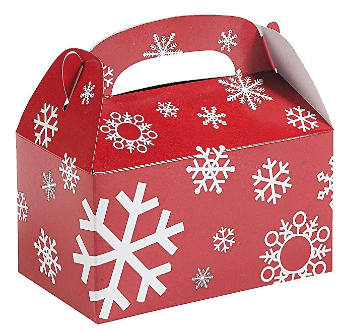 Giáng sinh kỳ nghỉ Red + White Snowflake Care Box đa gói - 24 miếng