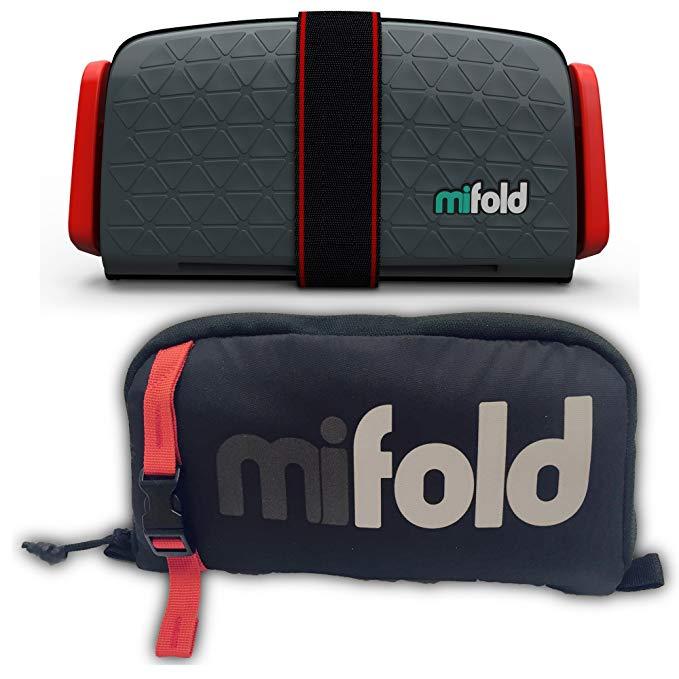 Mifold Grab-and-Go nâng cao chỗ ngồi an toàn pad với túi lưu trữ, xanh / xám