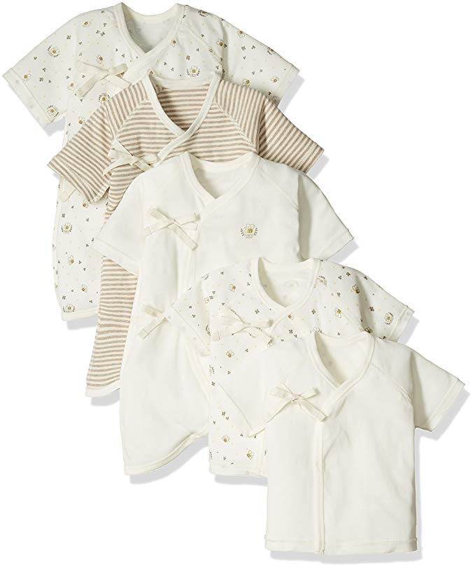 Sét áo sơ sinh vải Bông hữu cơ gồm 5 chiếc .