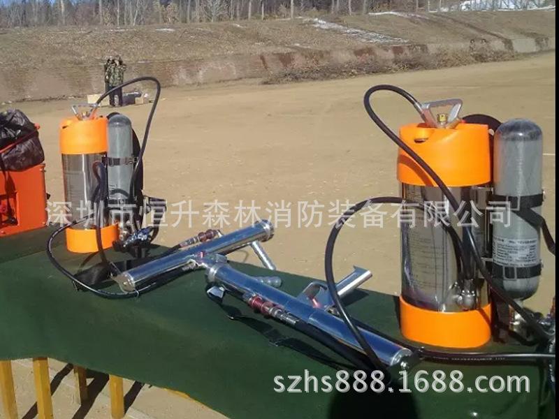Phun xịt thuốc súng, súng phun nước cao áp xung điện áp cao thiết bị chữa cháy rừng.