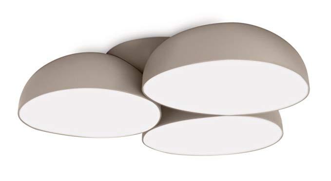 Philips InStyle Đèn trần LED Stonez 12 Ngọn lửa nhựa 2.5 W Xám 408298716