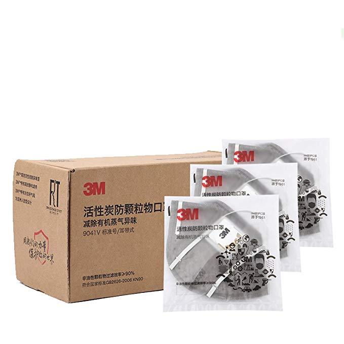 3m mặt nạ 9041V thở van than hoạt tính mặt nạ KN90 mức độ bảo vệ 90% hiệu quả lọc tai- mặc độc lập b