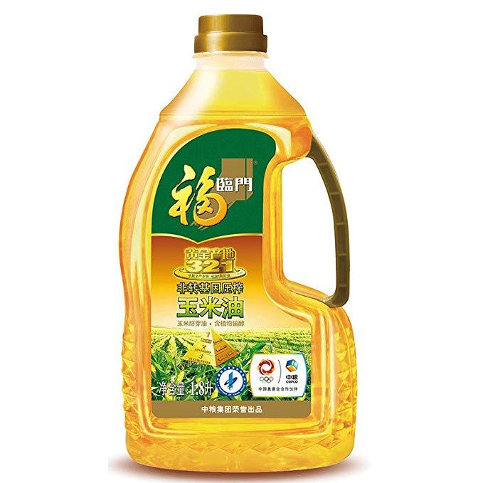 Fulinmen Non-GMO ép vàng nguồn gốc ngô dầu ngô mầm dầu phong phú trong phytosterols (1.8L tay gói)